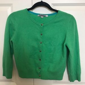 Green cashmere cardigan from Boden